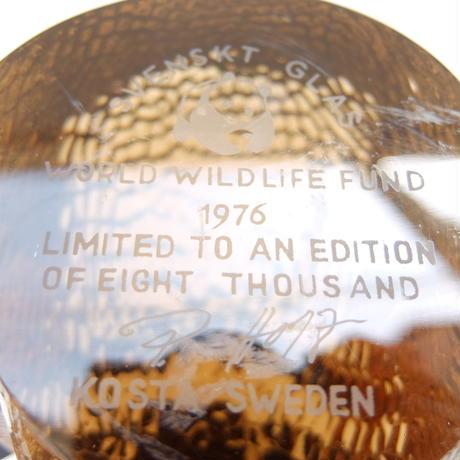 コスタ・ボダ Kosta Boda WWF1976年チャリティーハリネズミ(8000個限定)