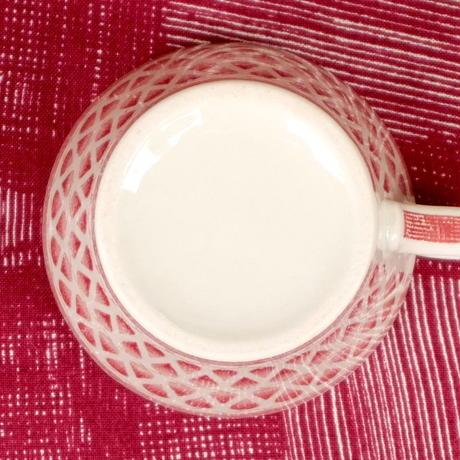 ウプサラ・エクビィ Upsala Ekeby/ゲフレ Gefle リッレモー コーヒーカップ&ソーサー(レッド)レア