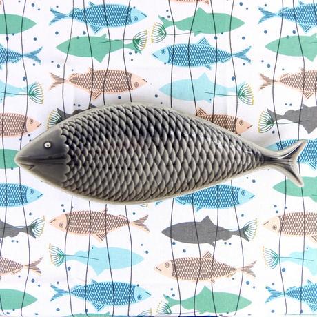 スティグ・リンドベリ Stig Lindberg フラーデン 魚プレート(グレー)
