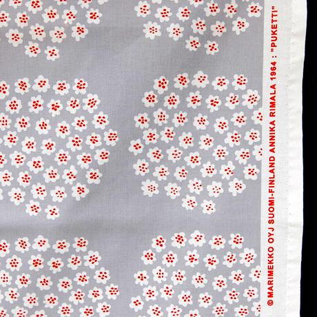 マリメッコ marimekko <Puketti>ファブリック(グレー×オレンジ)50cm