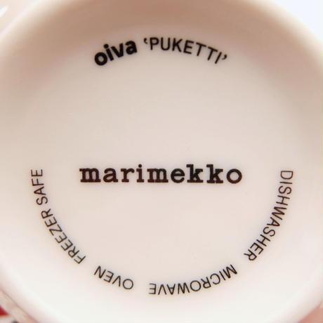 マリメッコ marimekko <Puketti>マグカップ(グレー)日本限定