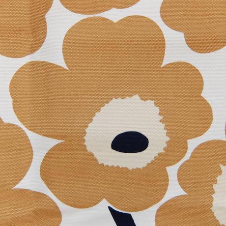マリメッコ marimekko <Pieni Unikko>キャンバス・ファブリック(オフホワイト×キャメル)50×79cm 日本未入荷