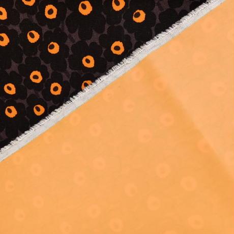 マリメッコ marimekko <Mini Mini Unikko>コーティング・ファブリック(チャコールグレー×ブラック×オレンジ)50×76cm 日本未入荷