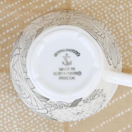 グスタフスベリ Gustavsberg X 鹿児島睦 アプリール カップ&ソーサー(ホワイト)新品