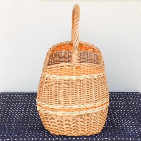 ヴィンテージ バスケット(オレンジライン)