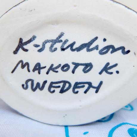 ケラミックステュディオン Keramikstudion X 鹿児島睦 エンリトゥンヴァン フラワーベース(うさぎ・ブラック)新品