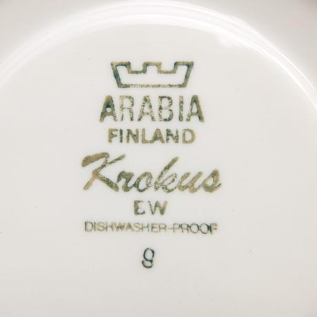ARABIA アラビア クロッカス(モノクロ)カップ&ソーサー(中)(b)