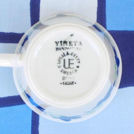 ウプサラ・エクビィ Upsala Ekeby/ゲフレ Gefle ビネタ カップ&ソーサー