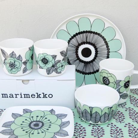 マリメッコ marimekko <Kestit>プレート20cm(ミントグリーン)日本限定&販売店限定