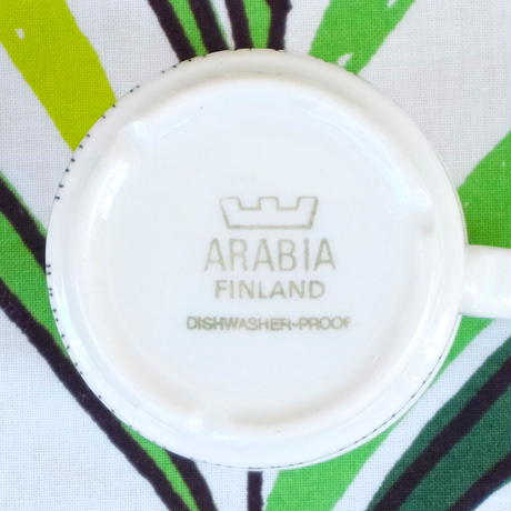 ARABIA アラビア クロッカス(モノクロ)カップ&ソーサー(小)
