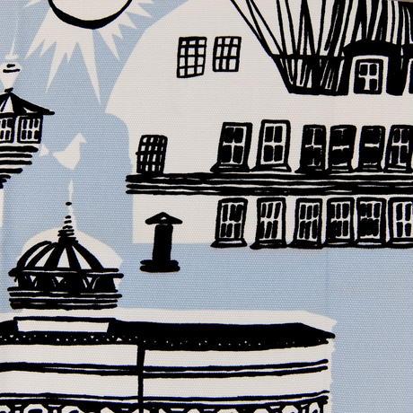 マリメッコ marimekko <Helsinki>キャンバス・ファブリック(水色)50×79cm 日本未入荷