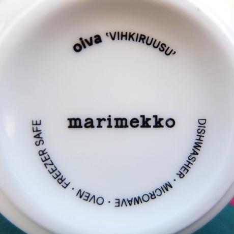 マリメッコ marimekko <Vihkiruusu>マグカップ(ブルー)フィンランド限定 新品