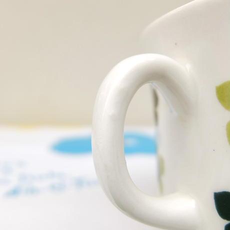 ウプサラ・エクビィ Upsala Ekeby/ゲフレ Gefle グリーンの花 ティーカップ&ソーサー