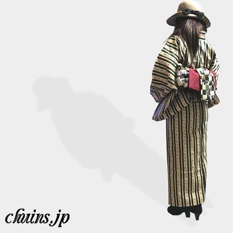 【着物&浴衣】アンティークストライプ