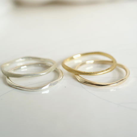craft line ring 4 - silver