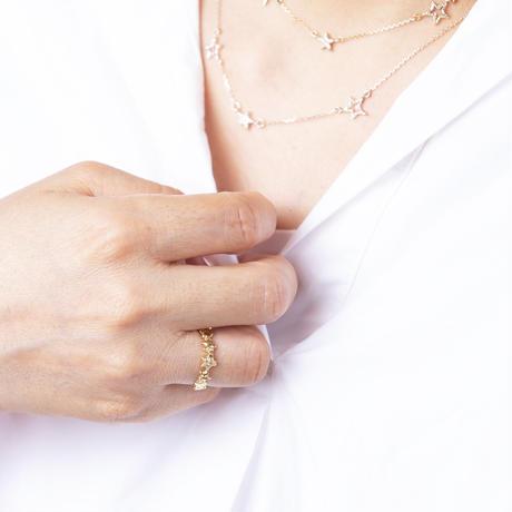 ライン star リング/gold