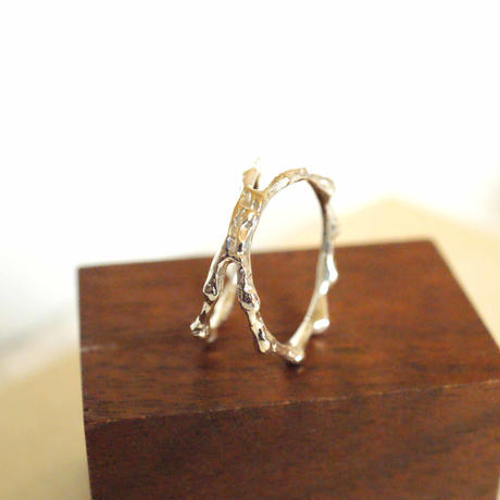 craft line ring 5 - silver
