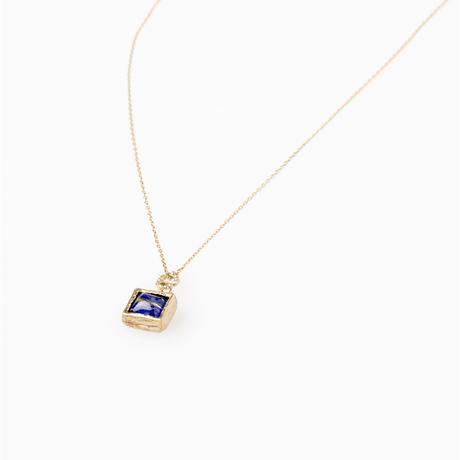 ルチルクォーツ+天然石ネックレス