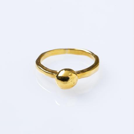 ラフボールリング/gold