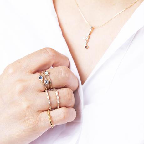 ツイストスティック天然石ネックレス/gold