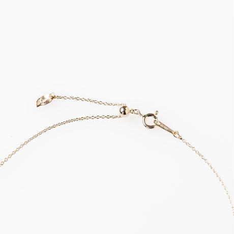 ツイストスティック天然石ネックレス/silver
