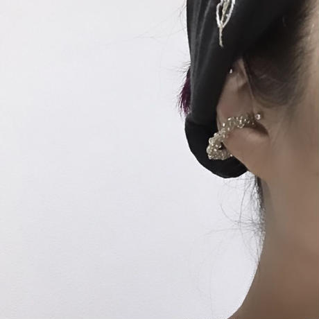 METAL earcuff / silver colour