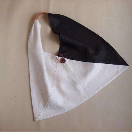 『広げて大きなバッグ』白黒ツートンカラー Lサイズ