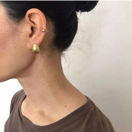 Baroque earrings Brass