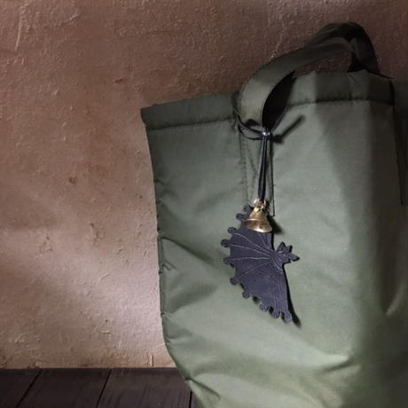 Leather bag charm 〈Bat〉