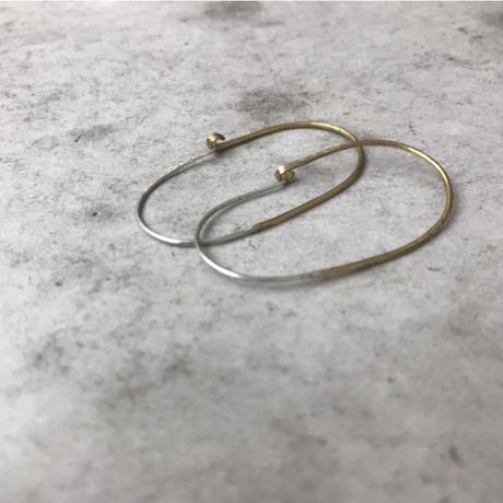 SV +B combi oval earrings