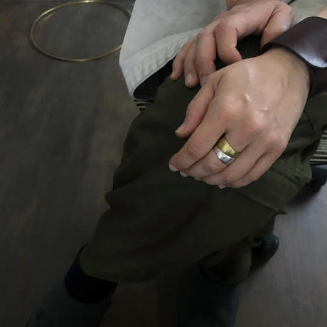 Tapered Ring [silver・brass]2個セット