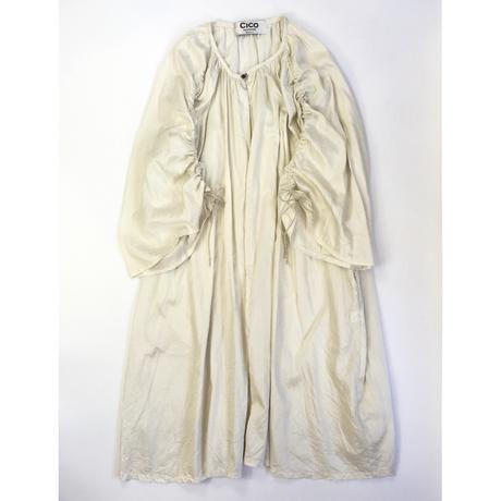 cotton satin shirring 羽織り long