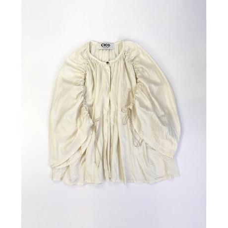 cotton satin shirring 羽織りshort