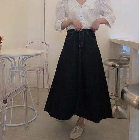 【再入荷】summer flare denim skirt CL024