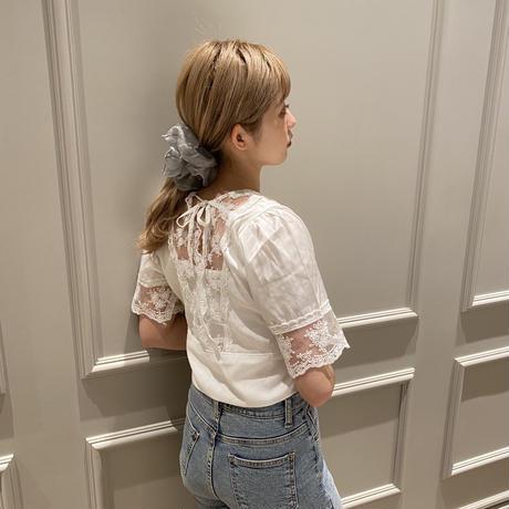 v neck lace blouse  CL040