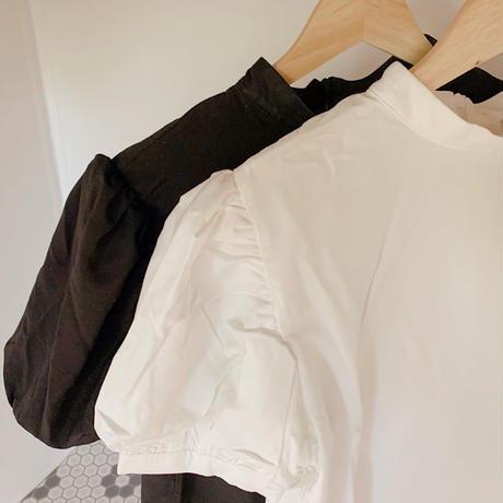【再入荷】puff sleeve high neck blouse   CL003