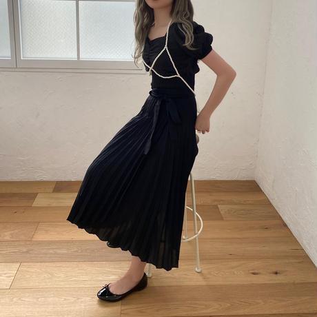 【NEW】asymmetry wrap skirt  CL035