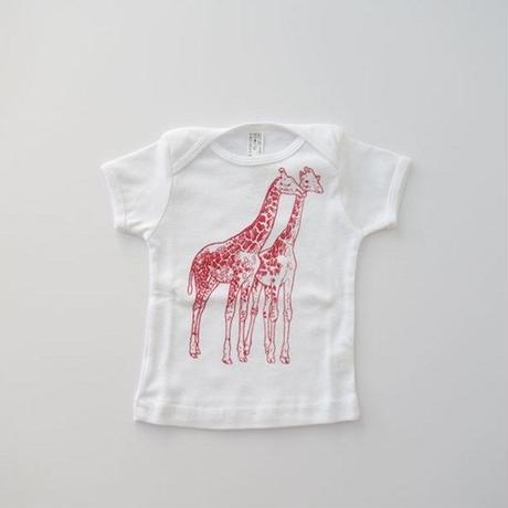 アニマルTシャツ for BABY WHITE (MAKIE) 6-12、12-18M