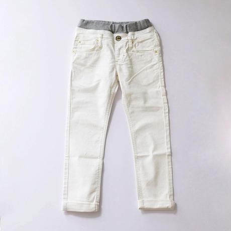 リブストレッチテーパードパンツ WHITE (Lee) 130~160cm