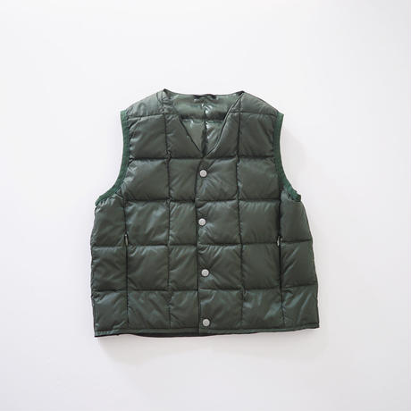 V NECK BTN DOWN VEST GREEN (TAION) 100~140cm