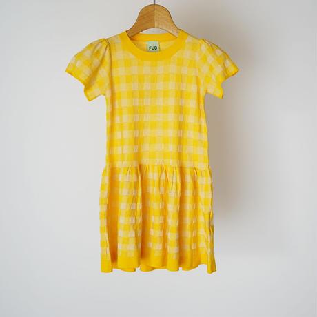 Tartan Dress YELLOW×ECRU  (FUB) 140、150cm