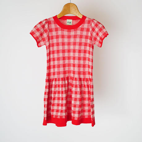 Tartan Dress RED×ECRU  (FUB) 90~130cm