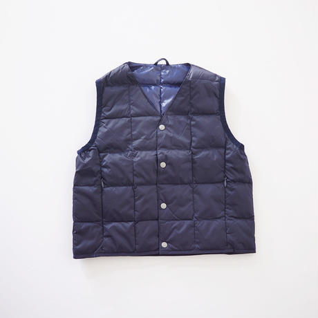 V NECK BTN DOWN VEST NAVY (TAION) LADIES S、Mサイズ