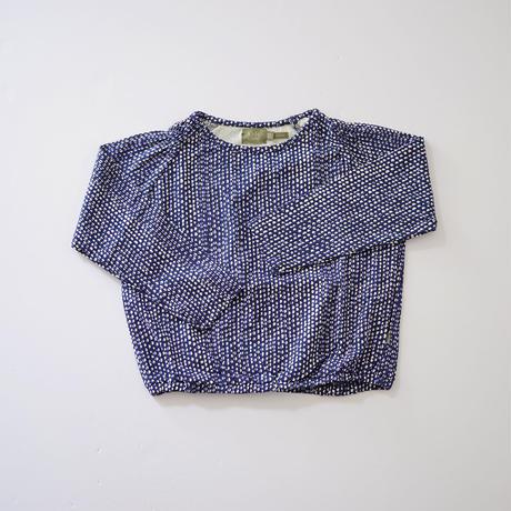 Hazel top BLUE  (kids case) 104~128cm