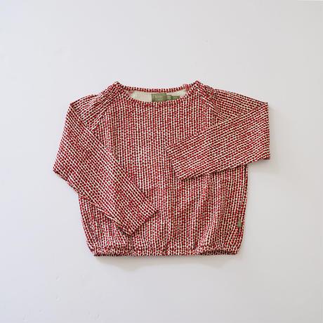 Hazel top RED  (kids case) 104~128cm