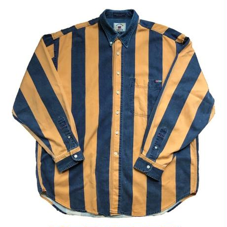 CUTTER&BUCK stripe long sleeve shirt