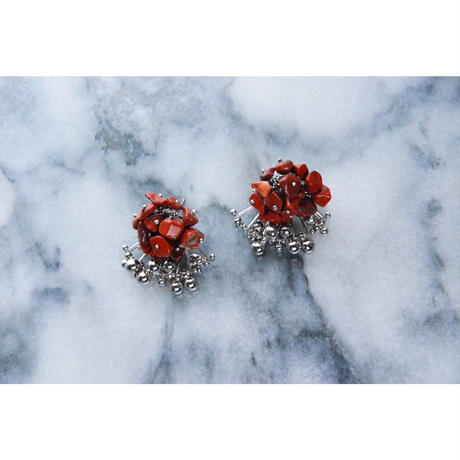 Aria Earrings -RED JASPER