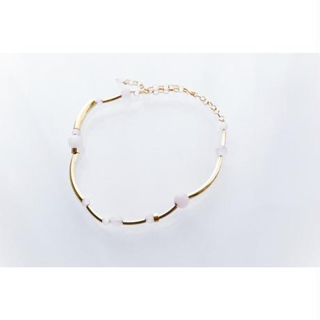 """ORBIT"" CHOKER  -  GOLD / ROSE QUARTZ"