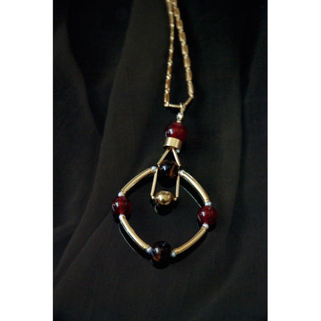 """SOLSTICE"" PENDANT  -  RED AGATE / TIGER'S EYE"
