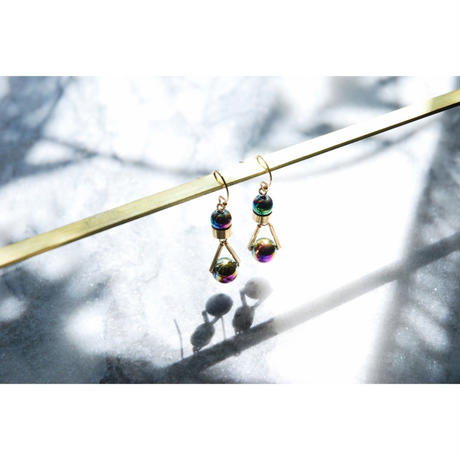 PARTICLE EARRINGS  -  IRIDESCENT